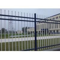 Square Tube Outdoor Security Fencing Heat Treated , Steel Picket Fence Panel