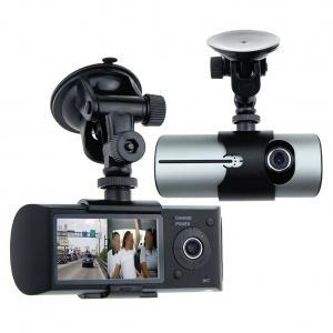 "Awolf 2.7"" Dual Lens Dash Cam Ultra Wide Angle GPS Module G - Sensor For Vehicle"