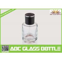 Buy High Quality Custom Glass Perfume Bottle 50ml With Black Cap Clear Color at wholesale prices