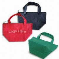 Quality Mini Tote Bag with Zipper, Made of 80g/m² Nonwoven Material for sale
