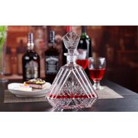 Quality 600ml Wine Decanter Whiskey Glass Bottle With Lid Height 29cm For Alcohol Bar for sale