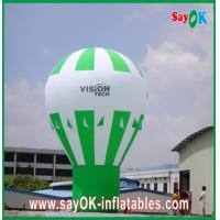 Quality Green Ground Advertising Balloons Custom Inflatable Products Rainbow Design for sale