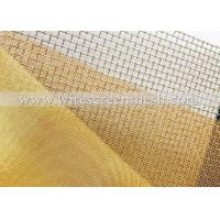 Quality High Stability Fine Brass Mesh , Light Weight Woven Brass Mesh Non - Toxic for sale