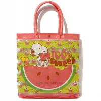 Quality Snoopy Patterns PVC Tote Bag Heat - Sealed Technics Reliable Quality Assured for sale