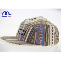 Quality Fashion Strip Fabric 5 Panel Camp Cap for sale