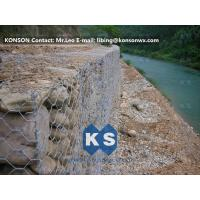 Quality Monolithic Galvanized Iron Wire Hexagonal Welded Mesh Gabions Retaining Wall for sale