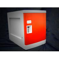 Quality Anti Rust / Anti Water Red ABS Plastic Lockers 4 Tier For Employee Keyless for sale