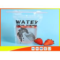 Quality Plastic Beverage Juice Stand Up Ziplock Bags With Hanging Holes , 450-500ml for sale