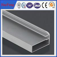 Buy holes drilling anodized shiny machined polish shower door frame parts aluminum profile at wholesale prices