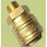 Buy D type self lock with draw point brass quick coupler suit for European market at wholesale prices