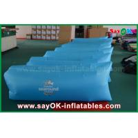 Quality 260 X 70cm Blue Inflatable Sleeping Air Bag Pop Up Sofa With Print Pocket for sale