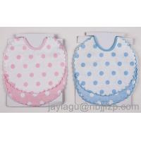 Quality 100% cotton Baby Bibs with emb for sale