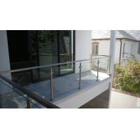 Quality Glass Railing/ Glass Balustrade with Stainless Steel Post for Balcony Design for sale