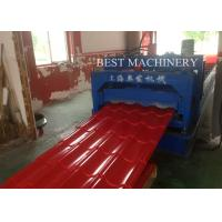 Quality Color Steel Roof Tile Roll Forming Machine PLC System AF - 828 with Pressing for sale