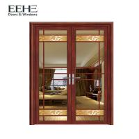 Security Internal Aluminum Window Door With Double Tempered Glass 4mm
