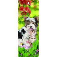 Quality Custom Lovely Dog Lenticular 3D Animal Bookmarks With Tassel For Gifts And Souvenirs for sale