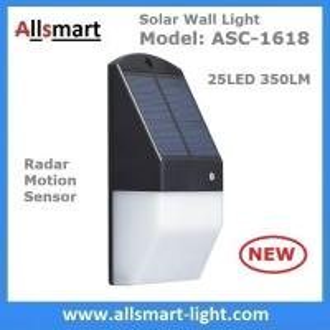 Quality Solar Wall Light 25 LED Solar Garden Lights Decorative Fence Radar Sensor Motion Light Warm White Solar Fence Lights for sale