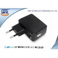 Quality Phone Charging 2 Round PIN 5V 2A Single Usb Plug Adapter With Energy Class VI for sale
