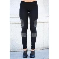 Quality Black Women'S Fashion Leggings PU Leather Leggings 92% Cotton 8% Spandex for sale