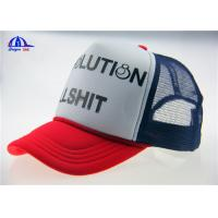 Quality Polyester Mesh Trucker Caps With 3D Printing for sale