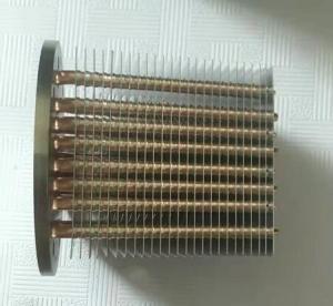 Quality Finishing Passivation Copper Pipe Aluminum Fin Heat Sink  /  Thin  Heatpipe Heatsink for sale