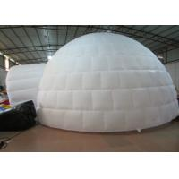 Quality Digital Printing Trading Blow Up Dome Ten , Customized Inflatable Igloo Tent for sale