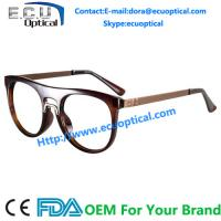 Overstate Design Temple eyeglasses Frames and Natural Full sample Design Fashion Stainless Eyewear for sale