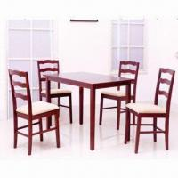 Quality 5-piece Dining Sets with Solid Wooden Frame Chair for sale
