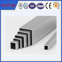 Quality competitive price and high quality natural/silvery anodized square aluminum tube for sale