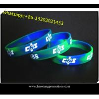 Quality Sport silicone wristband for sale Print / Debossed / Embossed silicone bracelet for sale