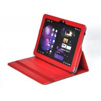 Quality Free Custom LOGO Red PU Leather Samsung Galaxy Tab Protective Case for sale