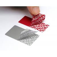 Quality Variable Data Printing Tamper Proof Security Labels Hi - Tech Nanometer Technology for sale