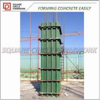 Quality Adjustable arc-shaped plastic formworks shuttering for column concrete/ adjustable pp plastic plywood for construction for sale