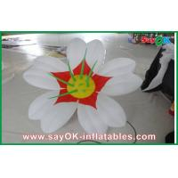 Quality White 190T oxford cloth Giant Inflatable Decoration Flower Led Lighting For Party for sale