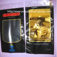 China Six Cigar Plastic Bags / Cigar Ziplock Bags OPP PE Laminated Material on sale