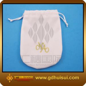 Quality white custom velvet bags for sale