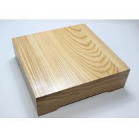 China Ash Wood Personalized Wooden Serving Tray , Square Food Tray With Cover on sale