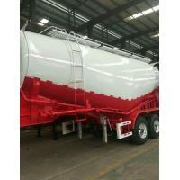 Quality Carbon Steel Semi Truck Trailer / Powder Material Semi Flatbed Trailers for sale