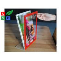 L Shape Ctystal Thin Light Box Acrylic Frame For Desktop Menu Sign Board