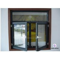China Tempered Safety Glass Aluminum Casement Windows , Powder Coating Finished on sale