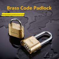 Quality Four - Digit Type Long Shank Padlock , Brass Weatherproof Combination Padlock for sale