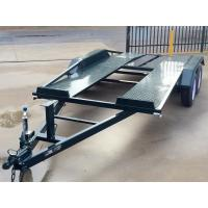 Buy cheap Tandem Axle 16x6 Flat Deck Car Trailer / Auto Transport Trailer Lightweight from wholesalers