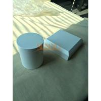 Buy Square White MDF Display Stands Cylinder Shape 140×140×40 mm With Bevel at wholesale prices