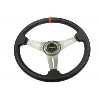 Quality PU Material Race Car Steering Wheel Protect Hands From Over - Hot / Cold for sale