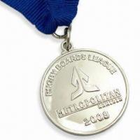 Quality Metropolitan Medals, Available in Silver Color, Made of Copper Material for sale