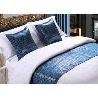 Quality Shining Imitated Silk Bed Runner Luxury Decorative For Hotel for sale