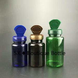 Quality 225ml Pharmaceutical Blue PET Plastic Health Care Medical Pill Bottle flip cap for sale