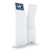 "Quality 12.9"" SPCC Floor Standing LCD Kiosk PC Stand Rotating Enclosure for sale"