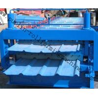 Quality Steel Cold Double Layer Roll Forming Machine for Roof Tile , Metal Sheet , Wall Panel for sale