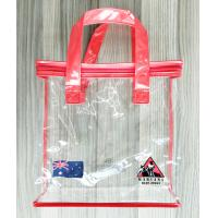 Quality Zippered Clear PVC Household Storage Bags Portable Transparent Shopping Bag With Handles for sale